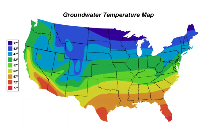 Groundwater Temperature Map