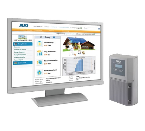 Solar Power Monitoring System : Benq auo solar m monitoring system for ac unison