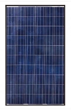 canadian solar cs6p 265p 265 watt black frame solar panel. Black Bedroom Furniture Sets. Home Design Ideas