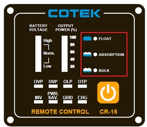 Cotek CR16B > Remote for Cotek SP Series Inverters