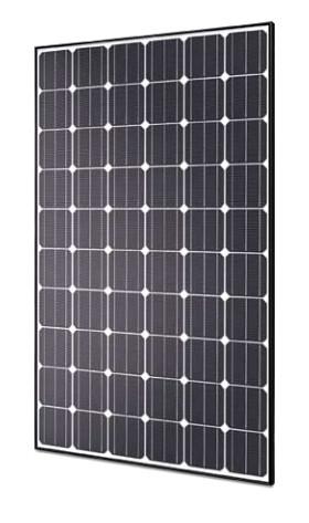 Hyundai 280 Watt Mono Solar Panel Black Frame His S280rg