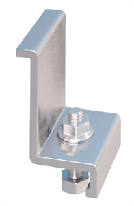 "IronRidge End Clamp C, 1.57"" Mill 4 Piece Kit, 29-7000-157"