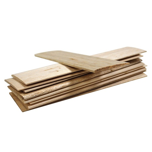 Ecodirect Kidwind Airfoil Balsa Blade Wood Sheets 10 Pack