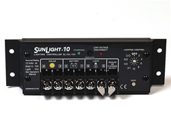 Morningstar SunLight 10 Amp 12 Volt PWM Charge Controller - Includes LVD Override Protection - SL-10L-12V
