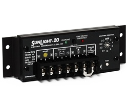 Morningstar SunLight 20 Amp 12 Volt PWM Charge Controller - Includes LVD Override Protection - SL-20L-12V