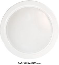 Natural Light 18 Inch Tubular Skylight Trim Ring with Diffuser - (White) - 18TRDW