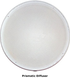Natural Light 21 Inch Tubular Skylight Diffuser (Prismatic) - Flat - 21DPF