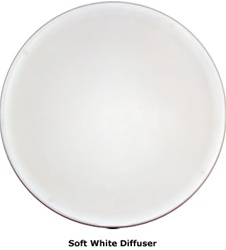 Natural Light 21 Inch Tubular Skylight Diffuser (White) - Flat - 21DWF