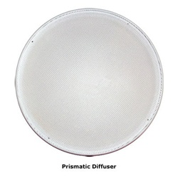 Natural Light 21 Inch Tubular Skylight Trim Ring with Diffuser - (Prismatic) - 21TRDP