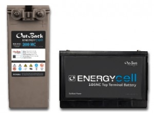 Outback EnergyCell Nano-Carbon 170NC > 153.8 Amp Hour 12 Volt VLRA-AGM Battery