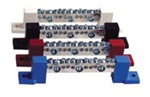 Outback Terminal Bus Bar with Blue insulators - TBB-Blue