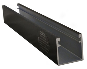 ProSolar R-136DBLACK > 136 Inch Deep Support Rail / 2.5 Inch Deep - Black