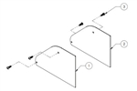 Quick Mount PV Quick Rack - Landscape Skirt End Cap Pair - QMQR-SC B 1