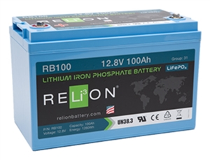 Relion 12 Volt 100 Amp Hour Lithium Battery Rb100