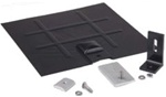 SnapNrack L-Foot Mount for Composition Roofs - Black L-Foot, Black Galv Flashing & Base Kit - 242-02701