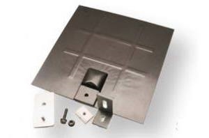 SnapNrack - L-Foot Mount for Composition Roofs - Clear L-Foot, Mill Aluminum Flashing & Base Kit - 242-02702