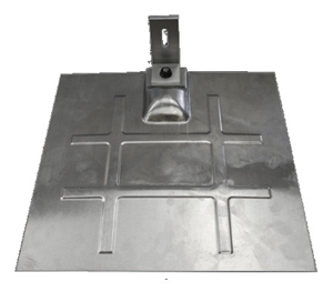 SnapNrack 242-92047 > L-Foot Mount for Composition Roofs - Silver L-Foot, Silver Aluminum Flashing & Base Kit