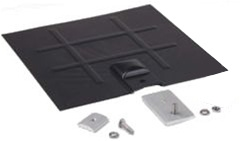 SnapNrack - L-Foot Mount for Composition Roofs - L-Foot Base, Black Galvanized Flashing Kit (no L-Foot) - 242-92049
