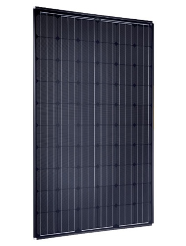 solarworld sw 250 mono 2 5 frame black 250 watt black solar panel. Black Bedroom Furniture Sets. Home Design Ideas