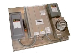 Solectria Single Inverter Panel with Meter- Integrated Panel