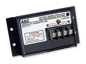 Specialty Concepts ASC-24/16 E - 16 Amp 24 Volt PWM Charge Controller / LVD