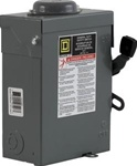 Square D 30 Amp 240 VAC Safety Switch - 3 Pole - D321NRB