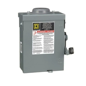 Square D 60 Amp 120/240 VAC Non-Fusible Safety Switch - DU222RB