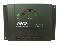 Steca Solsum 6.6f - 6 Amp 12/24 Volt PWM Charge Controller