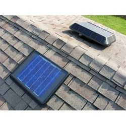 Sunrise FB850RP, 11 Watt Solar Attic Fan, Flat Base, Remote Panel