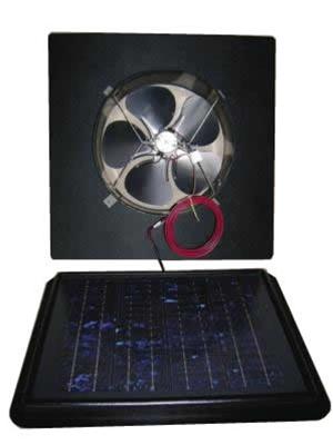 Sunrise Gbl850 11 Watt Solar Attic Fan Gable Mount