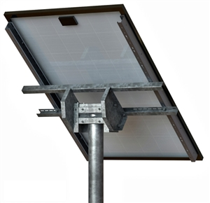 "Tamarack Solar STP-SCR/060 > Top of Pole Mount for One Solar Panel - Hole Space > 48"" - Portrait"