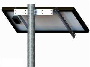 Tamarack Solar UNI-SP/01A > Side of Pole Mount for One 27 Inch Solar Panel