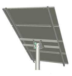 Tamarack Solar UNI-TP/04A > Top of Pole Mount for Three 110 Inch Solar Panels