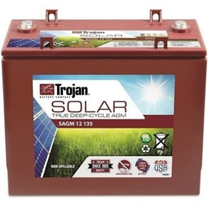 Trojan Battery SAGM 12 135 > 12 Volt 135 Amp Hour Solar AGM Battery