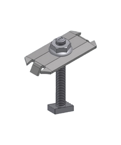 "UniRac 302027C > SOLARMOUNT Integrated Bonding Top Mounting Midclamp 2.00"" Bolt Length - Size B-C"