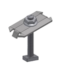 "UniRac 302028C > SolarMount Mid Clamp > Integrated Bonding - Stainless Steel -  2.50"" Bolt Length - Size E-F"