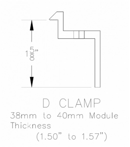UniRac 302029D > SolarMount Mid Clamp D-K 38mm-41mm Preassembled Integrated Bonding, Dark