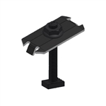 "UniRac 302028D > SolarMount Mid Clamp > Integrated Bonding - Dark Stainless Steel -  2.50"" Bolt Length - Size E-F"