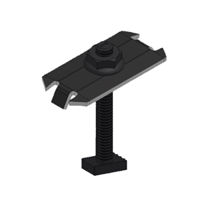 UniRac SolarMount Mid Clamp > Integrated Bonding - Dark Stainless Steel - UniRac 302028D