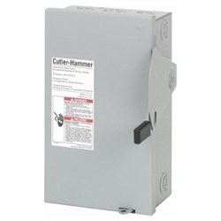 Eaton 30 Amp 120/240 VAC Fusible Disconnect - 2 Pole - DG221NGB