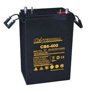 Centennial Battery CB6-400 > 6 Volt 416 Amp Hour - Size L16 AGM Battery