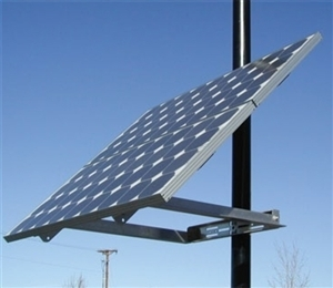 DPW Solar DPW-SPM1-D > Side of Pole Mount - for 1 Solar Panel - Size D