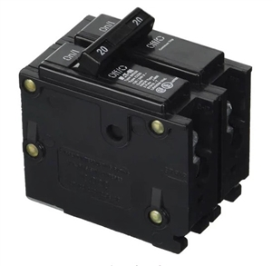 Eaton BR220 > 20 Amp 240 VAC 2-Pole Breaker for Enphase IQ Combiner