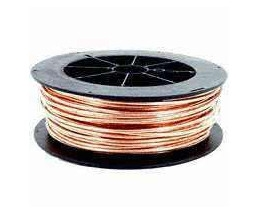 EcoCable #10 AWG Solid Soft Drawn Bare Copper Grounding Wire > 500 Foot Roll