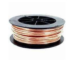 EcoCable #6 AWG Solid Soft Drawn Bare Copper Grounding Wire > 315' Roll