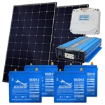 EcoDirect Small Off Grid System Kit - 2.4 kWhs of usable power - Off-Grid-System-2.4kWhs