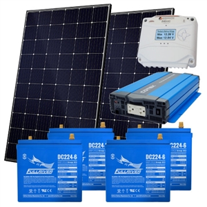EcoDirect Off-Grid-System-2.4kWhs > DIY Small Off Grid System Kit - 2.4 kWhs of usable power - DIY Solar