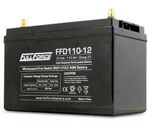Fullriver Full Force FFD110-12 > 12 Volt 110 Amp Hour Deep Cycle AGM Battery