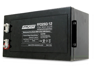Fullriver Full Force FFD260-12 > 12 Volt 260 Amp Hour Deep Cycle AGM Battery