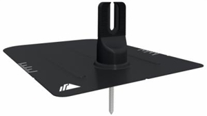 IronRidge FM-FF2-001-B > Flashing - Flashfoot2 kit with Cap-foot, Black Finish - 1 box of 4 flashings